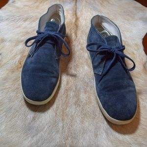 Hugo Boss blue suede chukkas